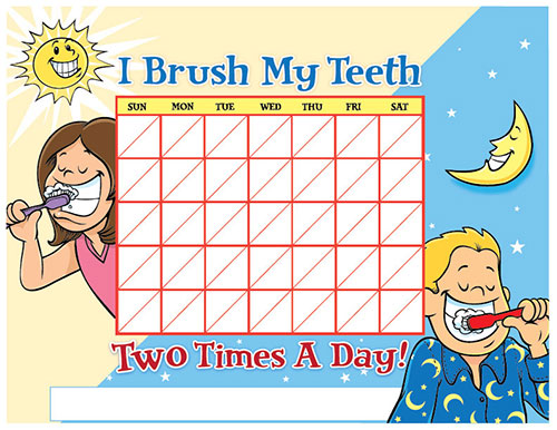 Color Brushing Chart for Children - Pediatric Dentist in Lake Jackson, TX